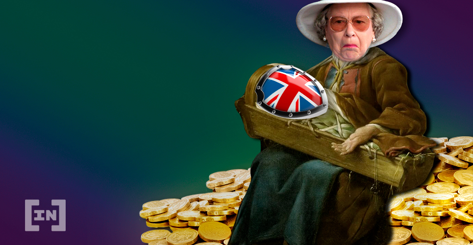 Largura do UK Brexit Queen Bitcoin BTC
